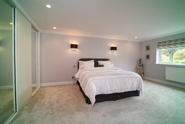 Master bedroom of property for sale in Mattingley Hampshire