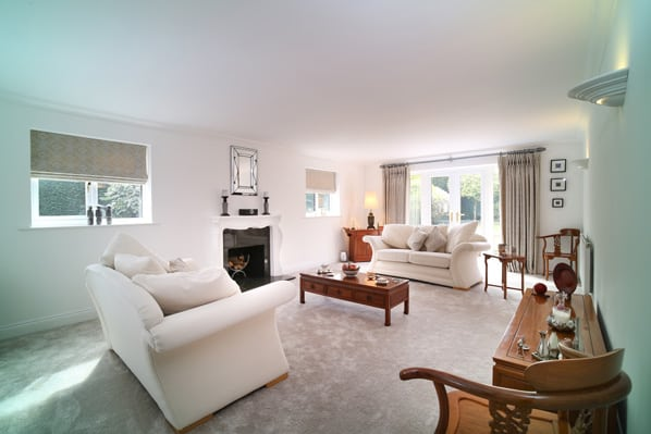living room of property for sale in Mattingley Hampshire