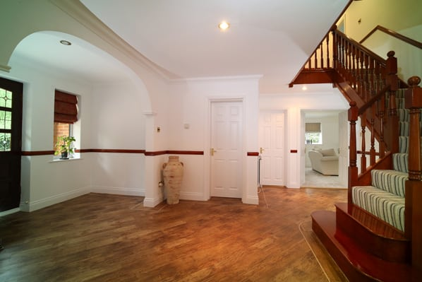 reception hall of property for sale in Mattingley Hampshire