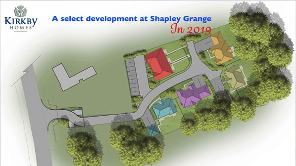 site plan of proposed new homes at Shapley Grange Hartley Wintney