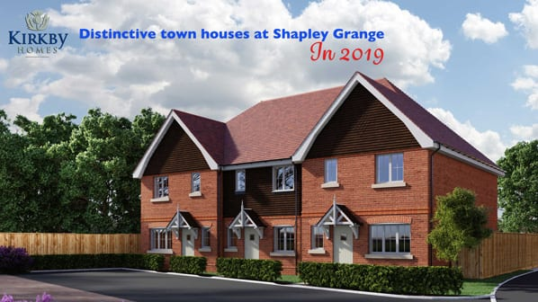 cgi image of proposed new town houses at Shapley Grange Hartley Wintney
