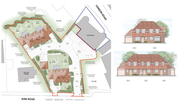 Site layout of new homes by T A Fisher