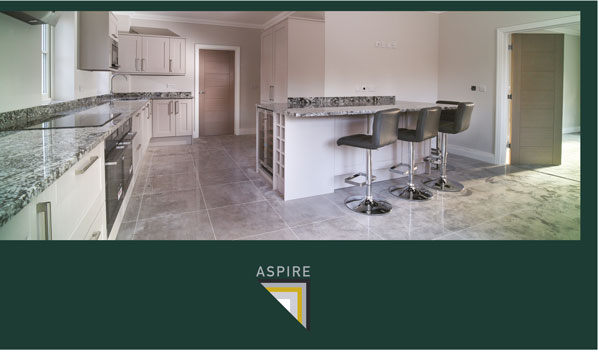 Plot one kitchen at Chantreyland Eversley