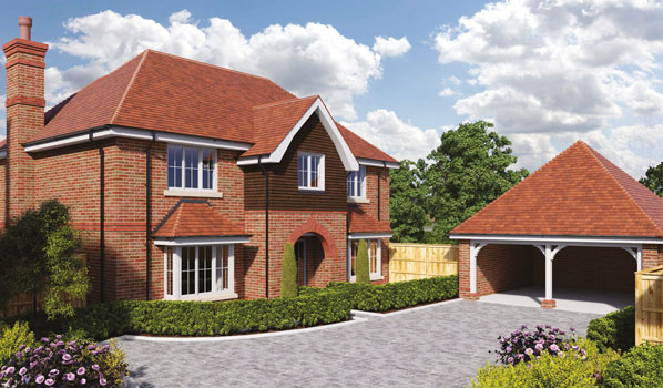Illustration of a Kirkby new home in Hartley Wintney