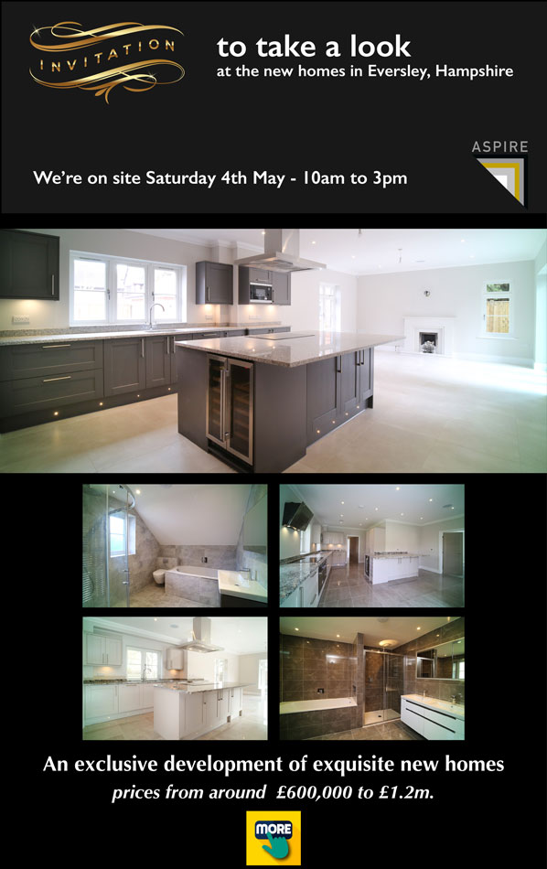 Invite to view new houses in Eversley Hampshire