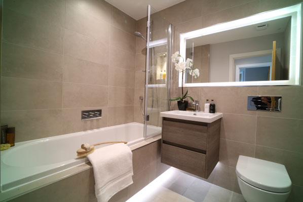 New Homes bathroom McCarthy Holden Estate Agents Hampshire