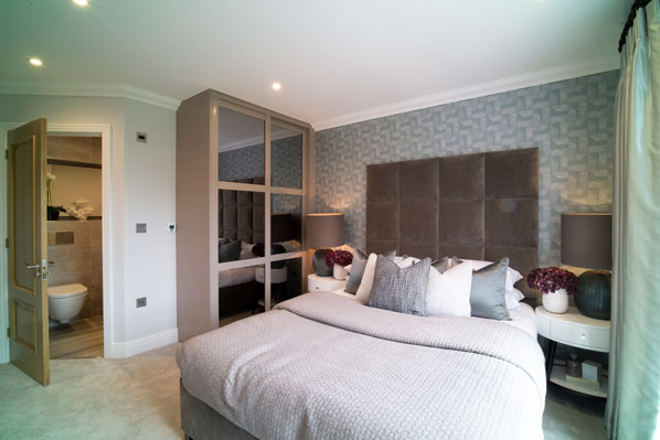 luxury new home bedroom McCarthy Holden Estate Agents Hampshire