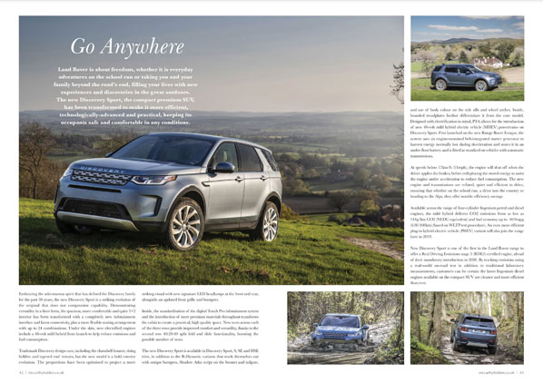 Land Rover editorial mccarthy holden estate agents