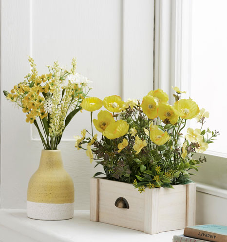 yellow decor for spring