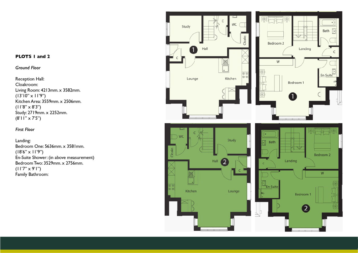 Connaught Lodge PLOTS 1 AND 2 FLOOR PLAN