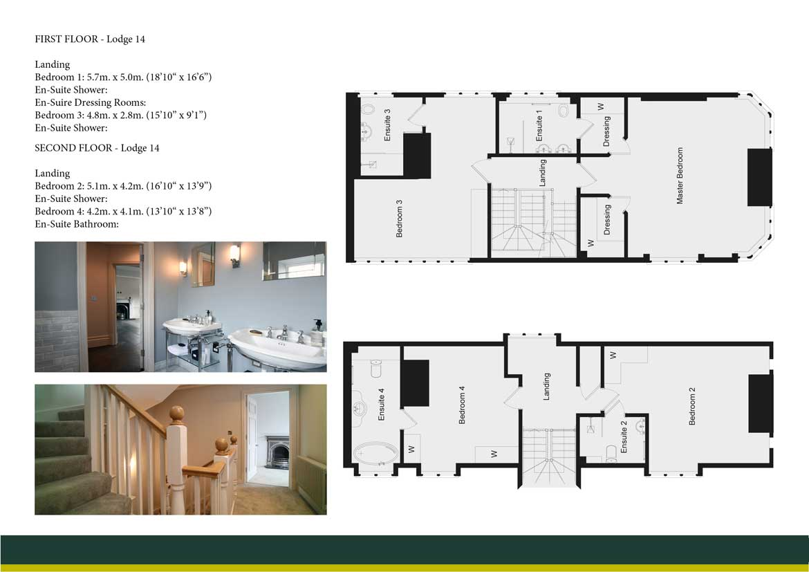 WINCHFIELD LODGE 14 FIRST AND SECOND FLOOR PLAN