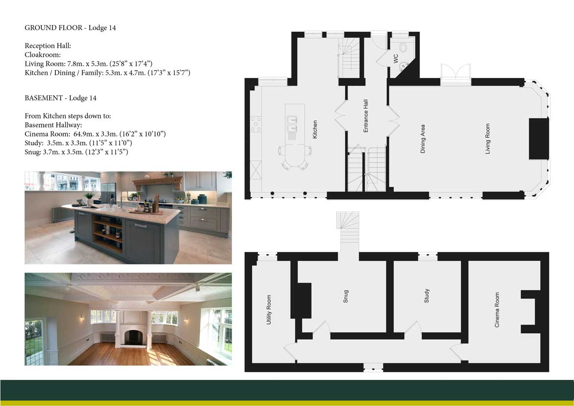 WINCHFIELD LODGE 14 GROUND AND BASEMENT FLOOR PLAN