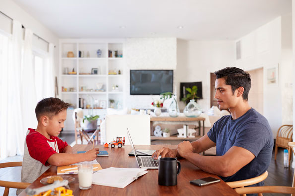 working from home parenting tips