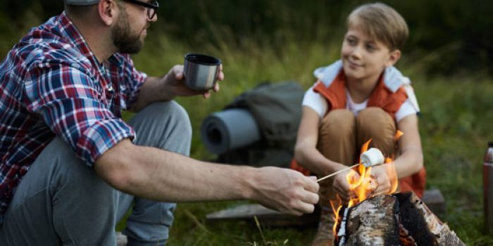 outdoor cooking with kids